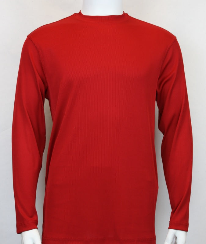 Bassiri L/SL Ribbed Mockneck Red (628)