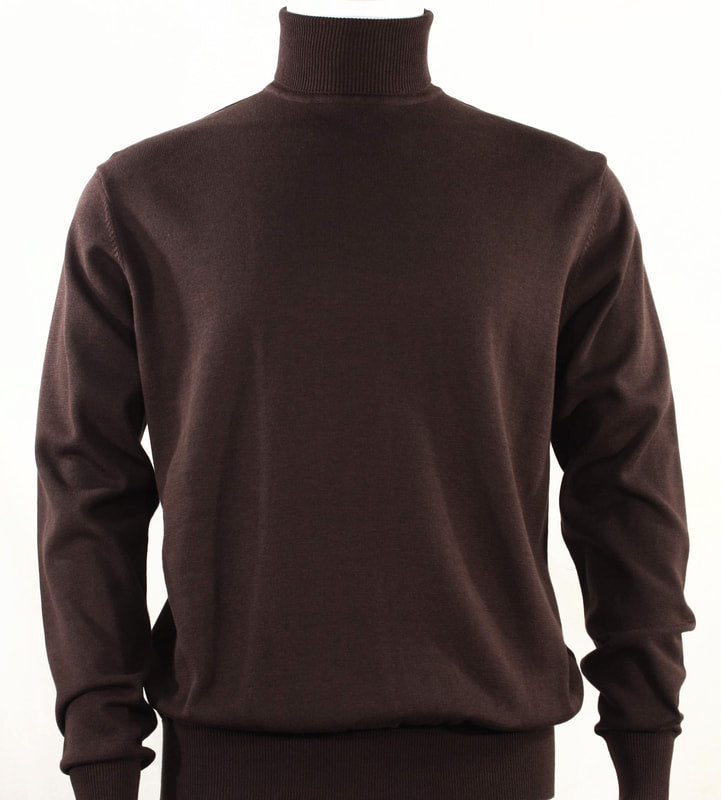 Bassiri L/S Turtle Neck Sweater 631-Brown