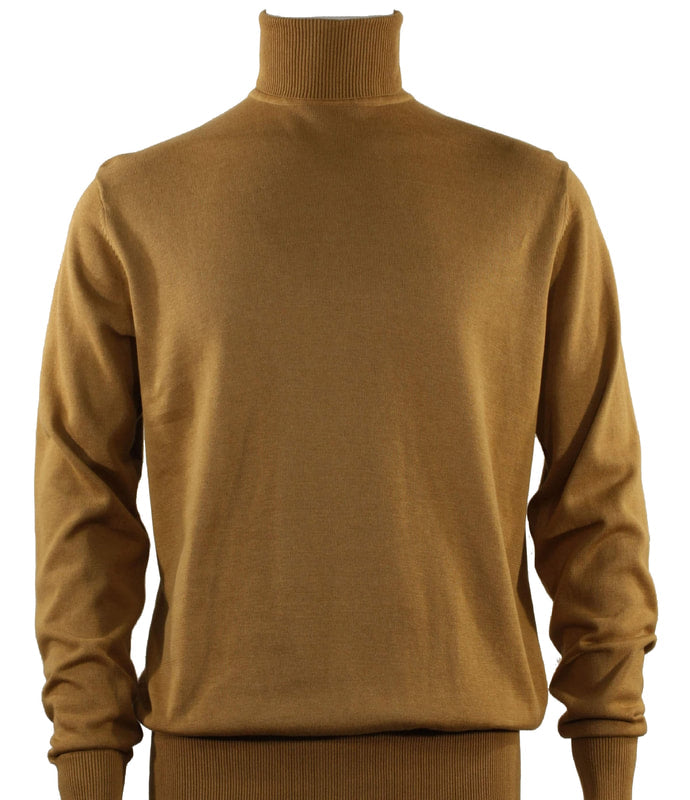 Bassiri L/S Turtle Neck Sweater 631-Gold