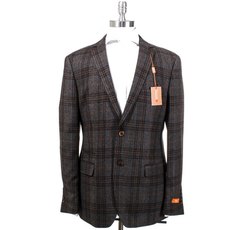 Tallia Orange Grey & Brown Plaid Wool (VSYA1TDY0390)