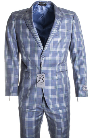 Bertolini by Mantoni Blue Plaid B79498/1