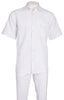 Inserch Giorgio Inserti S/S Shirt with Trim and Matching Pants Set 746-02 White