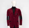 Zacchi Velour Sport Jacket Burgundy/Black 73436