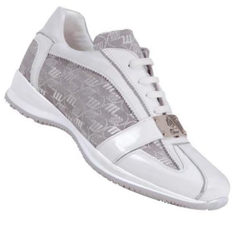 Mauri GLOSS White Patent & Crocodile 8840