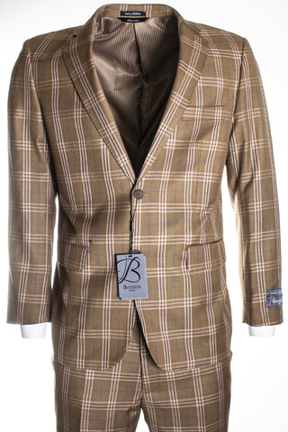 Bertolini by Mantoni Camel Plaid B79496/1