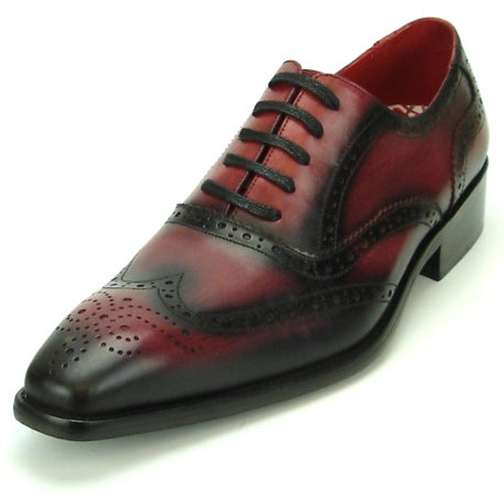 FI-8710 Burgundy Wing Tip Encore by Fiesso