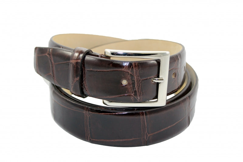 Fennix Chocolate Brown Alligator Belt