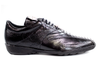 Belvedere - Black - Bene, Genuine Ostrich and Soft Calf Sneaker - 2010