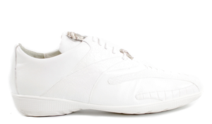 Belvedere - White - Bene, Genuine Ostrich and Soft Calf Sneaker - 2010