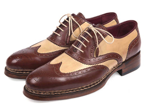 Paul Parkman Triple Leather Sole Goodyear Welted Wingtip Brogues - 095BEJ