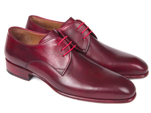 Paul Parkman Burgundy Hand Painted Derby Shoes - 633BRD72