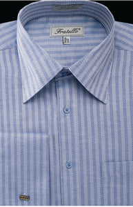 Fratello French Cuff Dress Shirt FRV4906P2 Blue