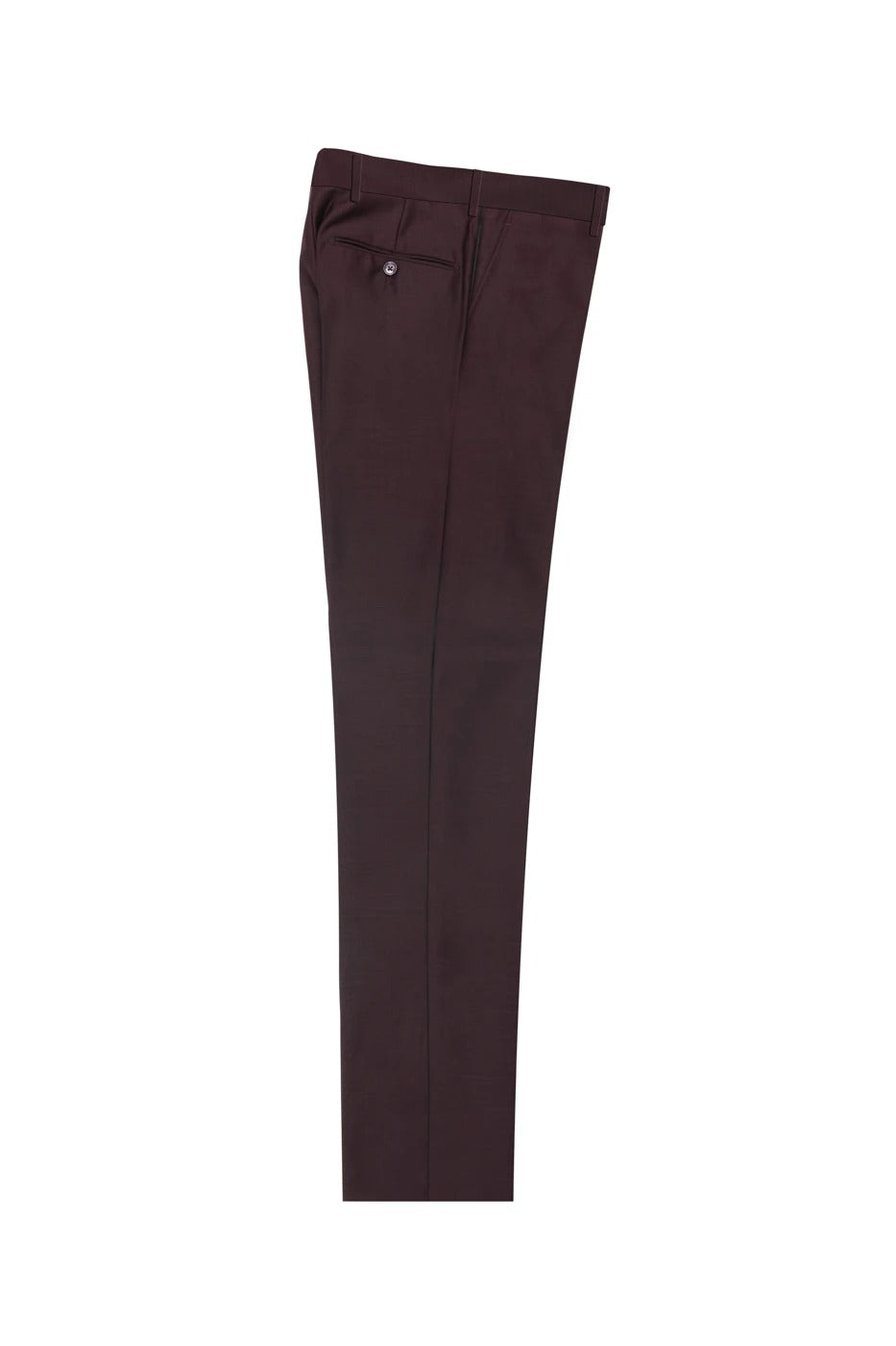 Tiglio Luxe 2560 Burgundy Flat Front Pure Wool Modern Fit