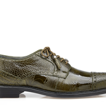 Belvedere - Olive - Batta, Genuine Ostrich Dress Shoe - 14006