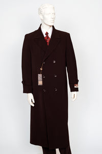 Carmel Zhao Duster Double Breast Coat Brown CHICAGO