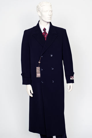 Carmel Zhao Duster Double Breast Coat Navy CHICAGO