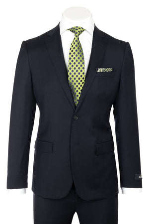 Dolcetto Modern Fit, Navy, Pure Wool Suit by Reda Cloth by Canaletto Menswear CRS903