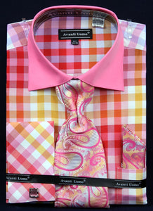 Avanti Uomo French Cuff Dress Shirt DN60M Fuchsia