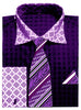 Avanti Uomo French Cuff Dress Shirt DN69M Purple