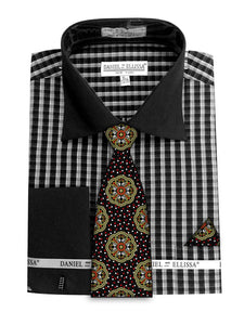 Avanti Uomo French Cuff Dress Shirt DN70M Black