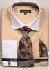 Avanti Uomo French Cuff Dress Shirt DN74M Mustard