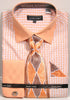 Avanti Uomo French Cuff Dress Shirt DN76M Peach
