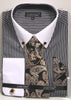 Avanti Uomo French Cuff Dress Shirt DN77M Black