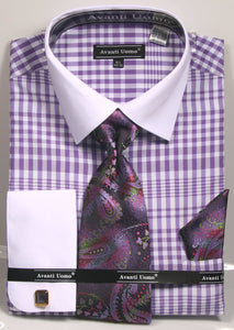 Avanti Uomo French Cut Dress Shirt DN81M Lavender