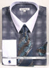 Daniel Ellissa Pattern French Cuff Dress Shirt DS3796P2 Navy