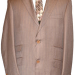 Mecca Wide Leg Tan Suit SSJ0014
