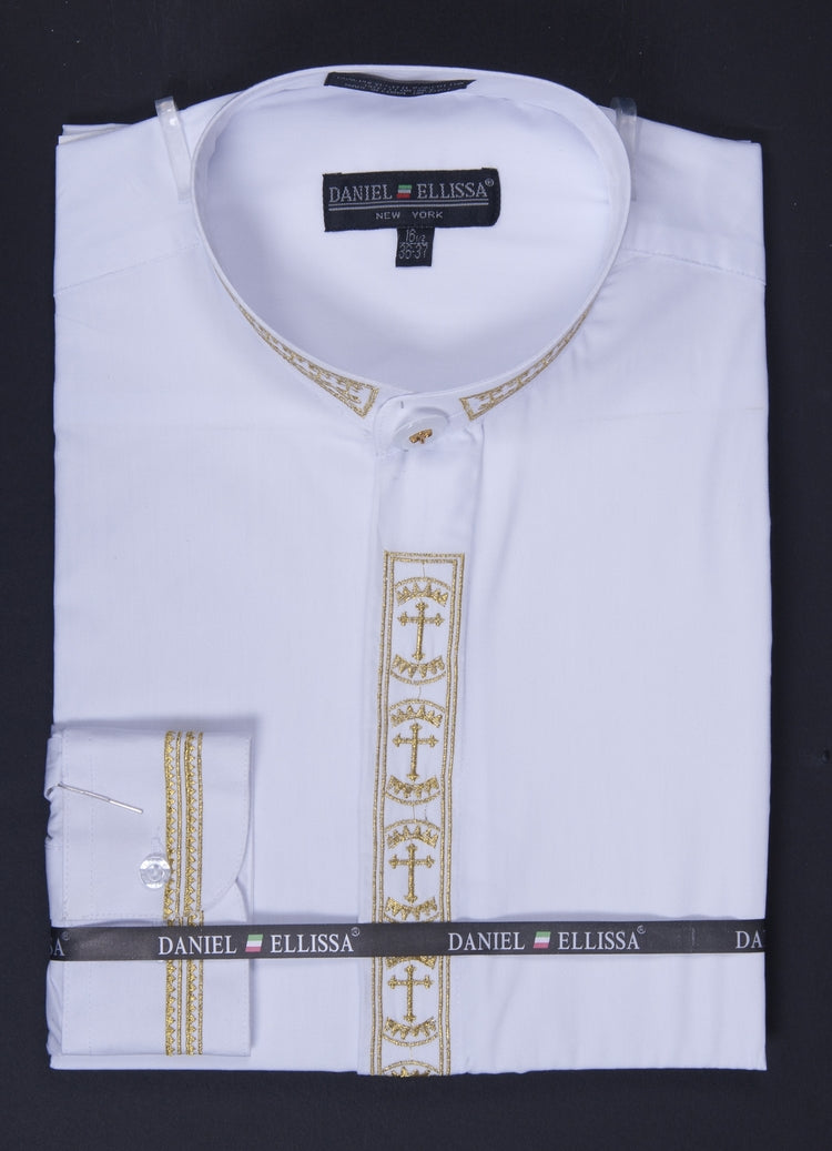 Daniel Ellissa Banded Collar DS2007-C White/Gold