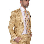 STEVEN LAND | DANTE | ITALIAN BAROQUE GOLD FORMAL PARTY SLIM TUXEDO | SL77-604