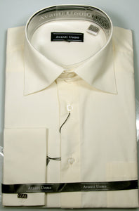 Avanti Uomo French Cuff Dress Shirt DN32M Ecru