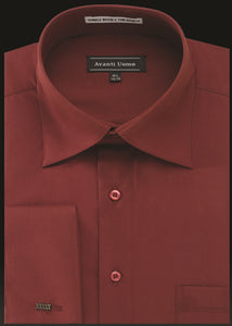 Avanti Uomo French Cuff Dress Shirt DN32M Fire Brick
