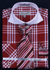 Fratello French Cuff Dress Shirt FRV4118P2 Burgundy