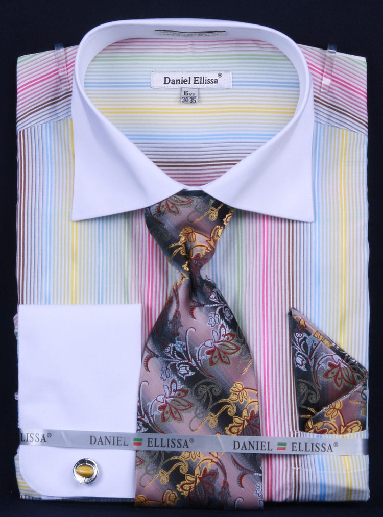 Fratello French Cuff Dress Shirt FRV4122P2 Gold