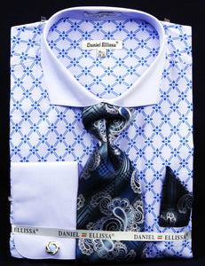 Fratello French Cuff Dress Shirt FRV4126P2 Blue