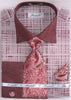 Fratello French Cuff Dress Shirt FRV4129P2 Burgundy