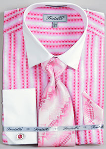 Fratello French Cuff Dress Shirt FRV4130P2 Fuchsia