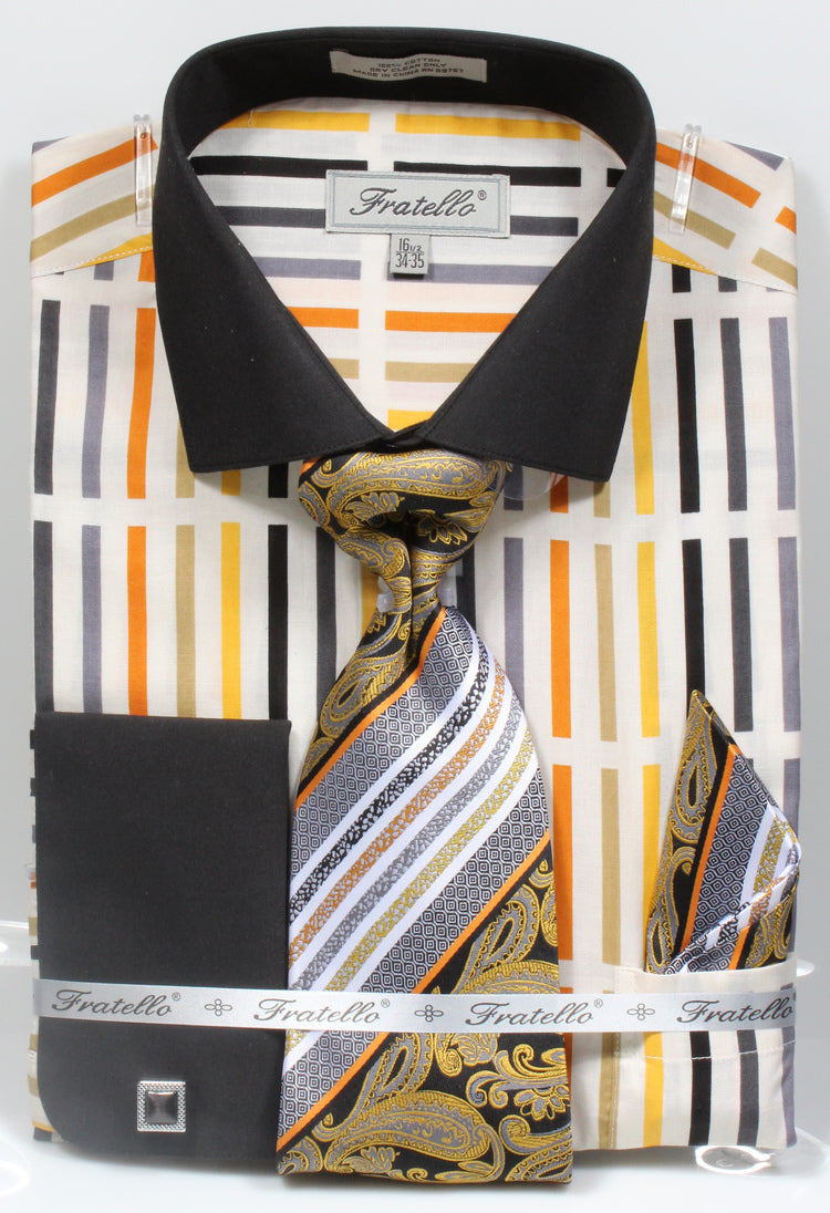 Fratello French Cuff Dress Shirt FRV4133P2 Soft Butter