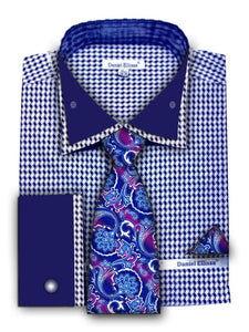 Fratello French Cuff Dress Shirt FRV4136P2 Blue