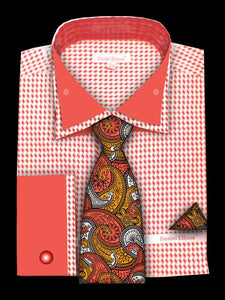 Fratello French Cuff Dress Shirt FRV4136P2 Coral