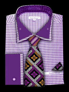 Fratello French Cuff Dress Shirt FRV4136P2 Lavendar