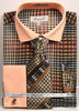 Fratello French Cuff Dress Shirt FRV4137P2 Brown