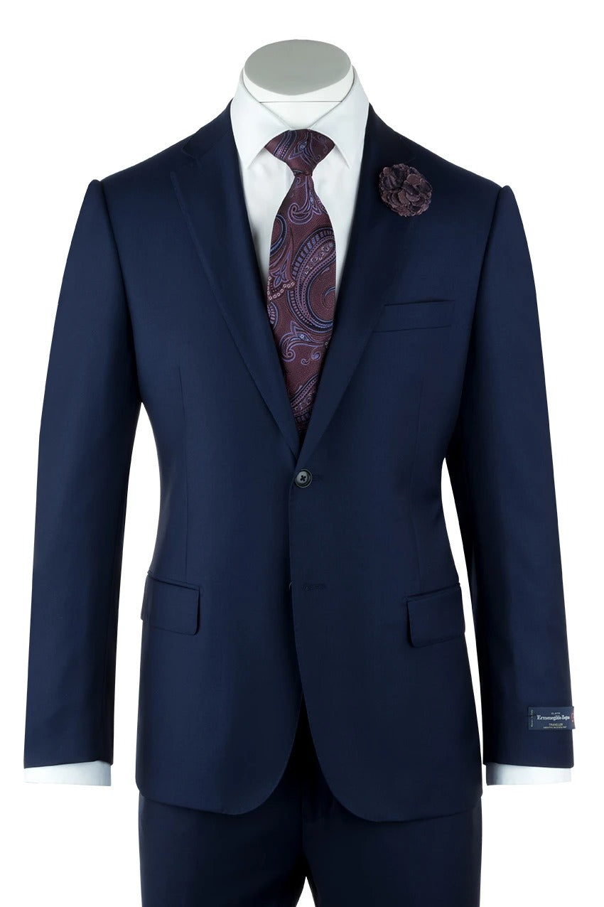 Canaletto Zegna Ermenegildo Cloth Superfine Wool Cobalt Blue Como Suit 1880U/0029