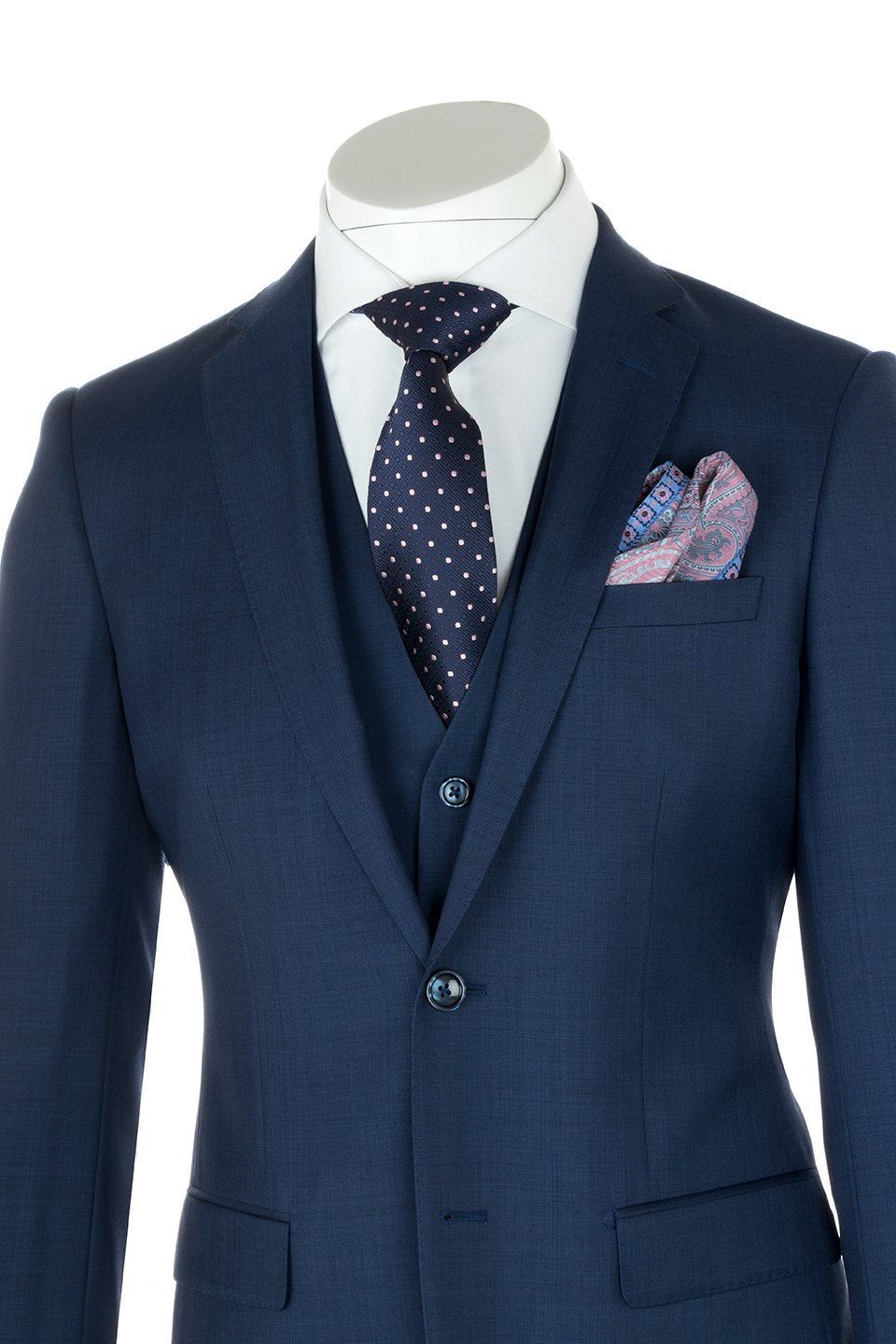 Sienna New Blue, Slim Fit Suit & Vest by Tiglio Luxe TS4066/2