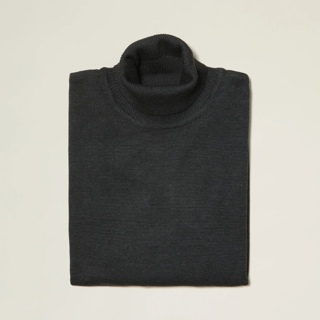 Inserch Cotton Blend Turtleneck Sweater Charcoal