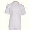 Inserch Giorgio Inserti Two-Pocket S/S Shirt and Matching Pants Set 745-02 White