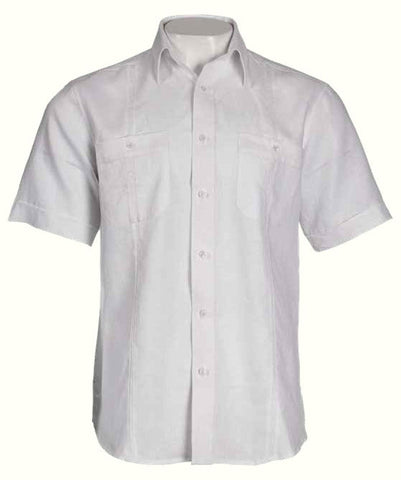 Inserch Linen 2-Pocket Short Sleeve Shirt 78010-02 White