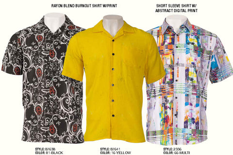 Inserch Rayon Blend Burnout Shirts with Print | S/S Abstract Digital Print